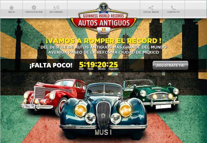 El registro de los vehículos será mediante el sitio www.recordautosantiguos.com hasta el 4 de octubre. (recordautosantiguos.com)