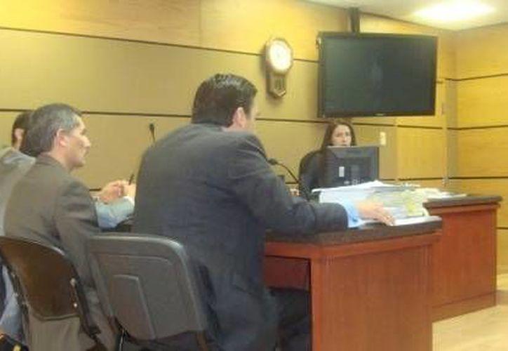 Audiencia en la que se fijó la fianza y otras obligaciones al ex coordinador de Protección Civil Municipal, José Manuel Domínguez Castillo. (Milenio.com)