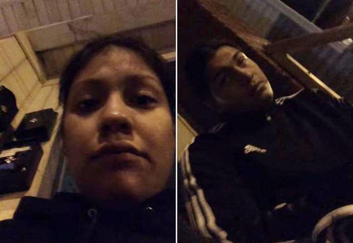 Imagen de los mexicanos agredidos por el policía Roy Bordamonte en la comunidad de Passaic, en Nueva Jersey. (Captura de pantalla/YouTube/Jazmín Vidal)