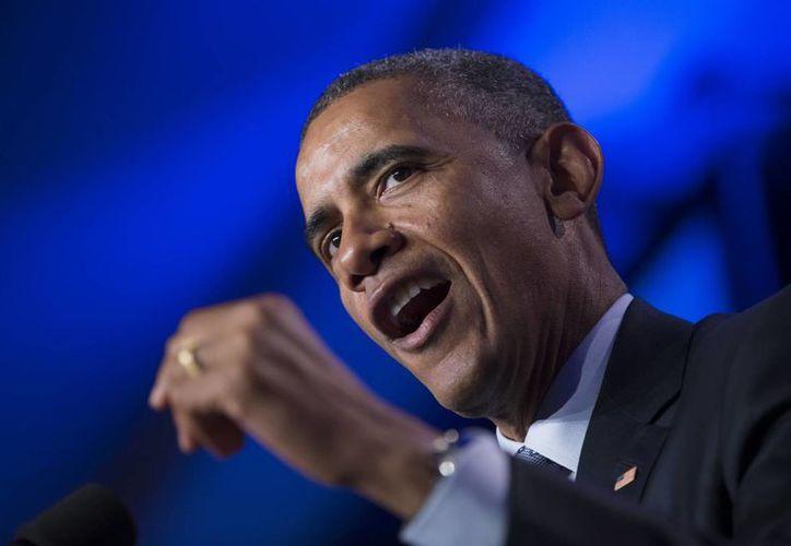 El presidente Barack Obama ofreció un mensaje grabado en la celebración del Año Nuevo Lunar, ante la comunidad china de Washington, en Estados Unidos. (AP)