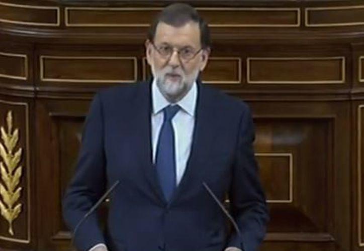 l jefe del Ejecutivo español, Mariano Rajoy, comparece este miércoles en el Pleno del Congreso de los Diputados para informar sobre la situación en Cataluña. (RT)
