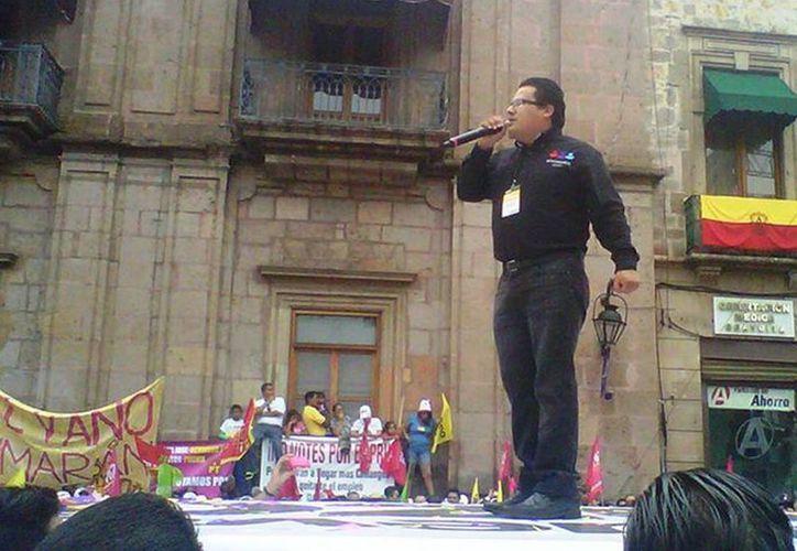 Fotografía de Rubén Pérez Hernández, dirigente de Encuentro Social en Michoacán, quien sufrió un atentado este lunes en la carretera Morelia-Quiroga. (Excelsior)