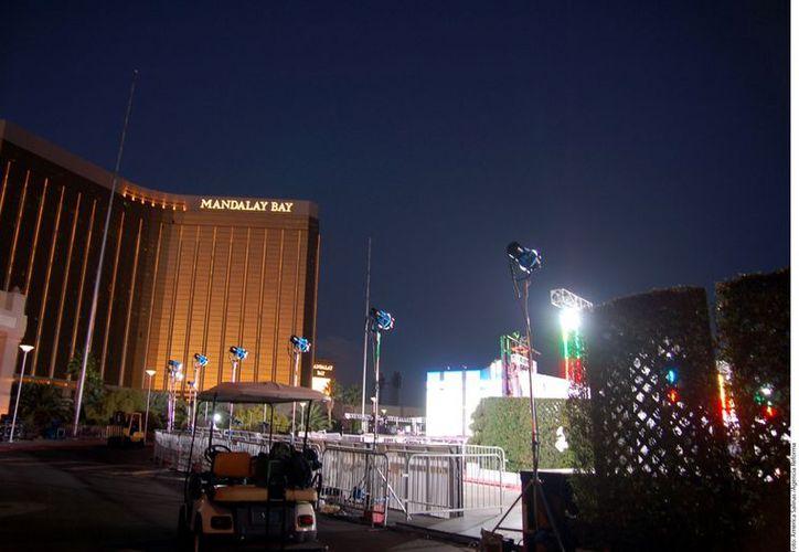 La sede del Grammy Latino en Las Vegas. (Agencia Reforma)