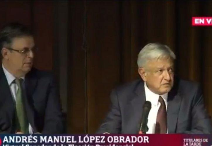 Andrés Manuel López Obrador propuso a Marcelo Ebrard Cassaubon como titular de la Secretaría de Relaciones Exteriores. (Excélsior)