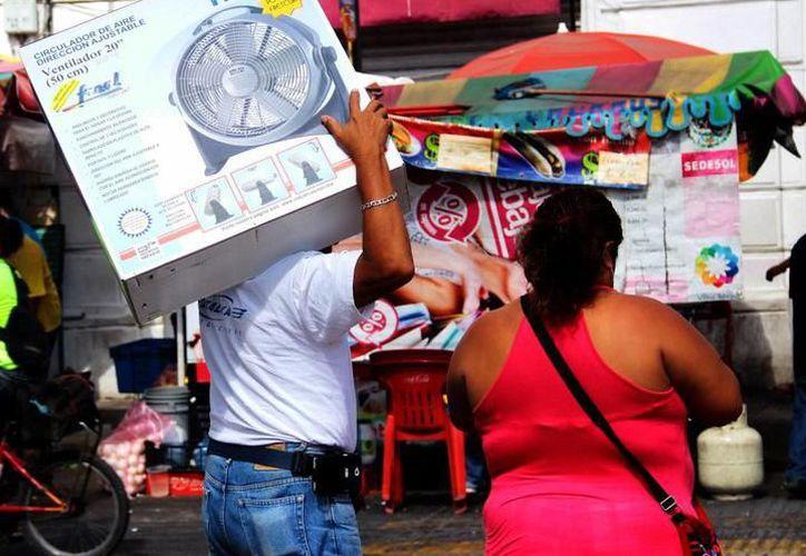 Yucatecos se preparan para enfrentar las 'altas' temperaturas en la región. (Milenio Novedades)