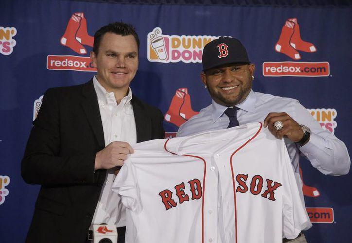 El venezolano Pablo Sandoval firmó por cinco años un contrato con Medias Rojas de Boston. (Foto: AP)