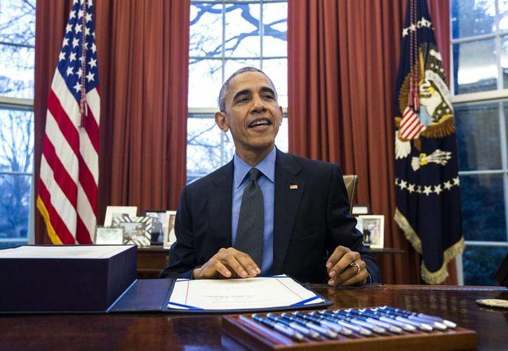 Imagen de archivo del presidente estadounidense, Barack Obama, en el Despacho Oval, en Washington. (EFE/Archivo)