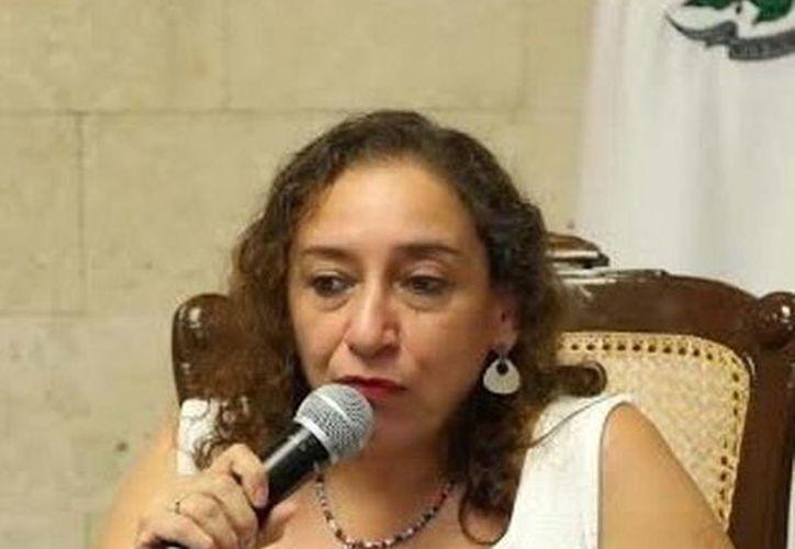 María Herrera Páramo, directora del Instituto de la Mujer en Mérida. (Milenio Novedades)