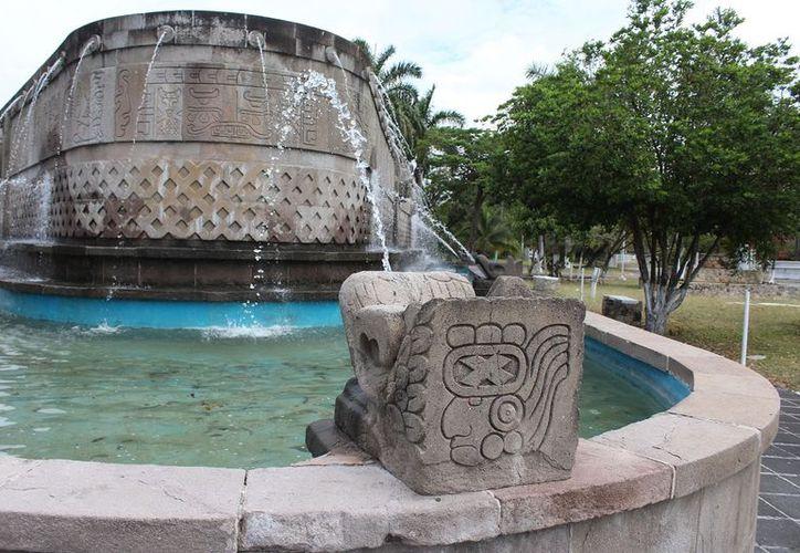 Fuente Maya patrimonio histórico en Chetumal. (Fuente: SIPSE)