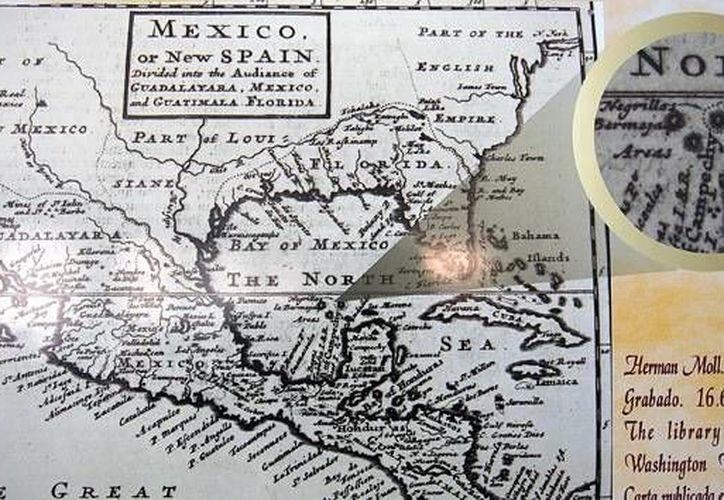 Los primeros datos de esta isla surgen a partir de los mapas del siglo XVI, pero también la cartografía del XIX señala a este islote como parte del golfo de México. (AFP)