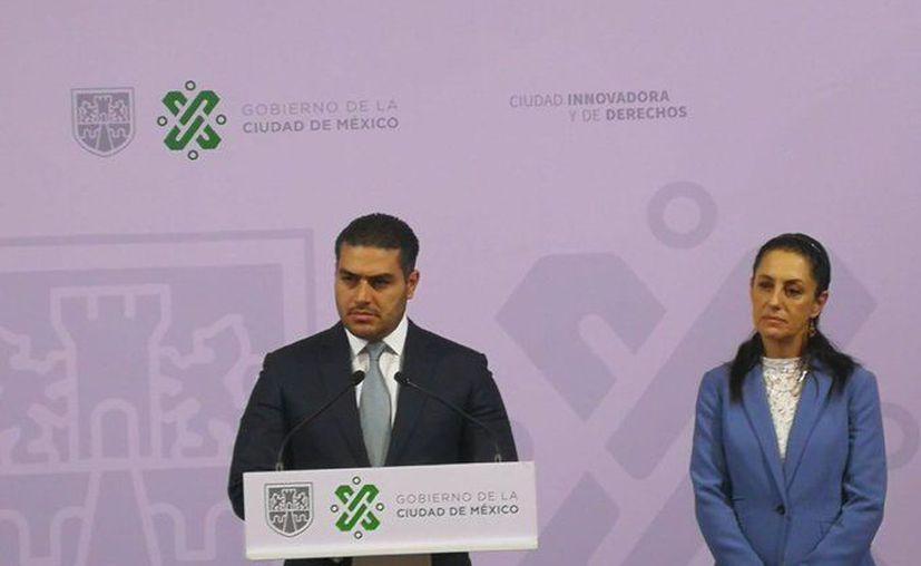 El secretario de Seguridad Ciudadana dio a conocer detalles sobre la captura de la pareja que supuestamente secuestró y asesinó a Fátima. (Foto: Tweeter SSC-CDMX).