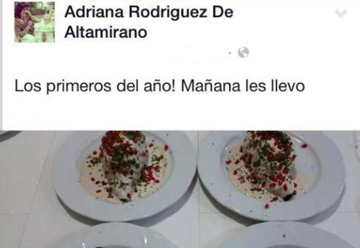 Adriana Rodríguez de Altamirano exhibió a su empleada por 'guardar' un chile en nogada. (Redacción/SIPSE)