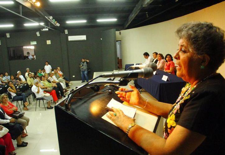 La presidenta de la FEPY, Laura Bojórquez Martínez. (Milenio Novedades)
