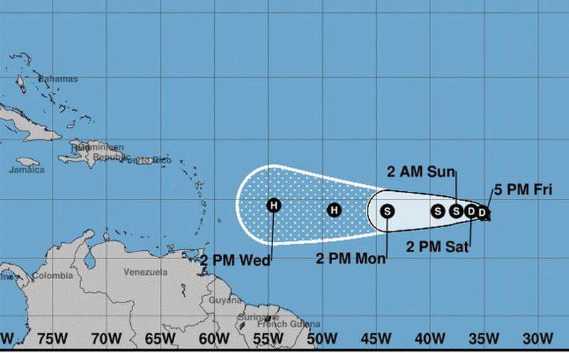 Se forma depresión tropical Nueve en océano Atlántico