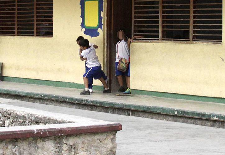 Tratarán de erradicar la violencia en los planteles escolares. (Francisco Gálvez/SIPSE)