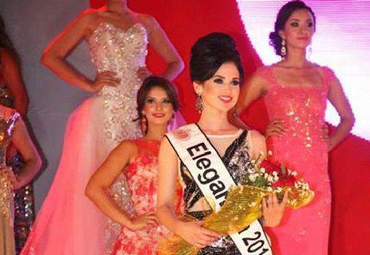 La joven de 20 años fue reconocida por su elegancia en el concurso de Nuestra Belleza Cajeme 2014. (Excelsior)