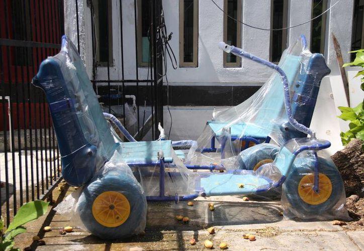 La Zofemat cuenta con dos sillas anfibias más en sus instalaciones. (Consuelo Javier/SIPSE)