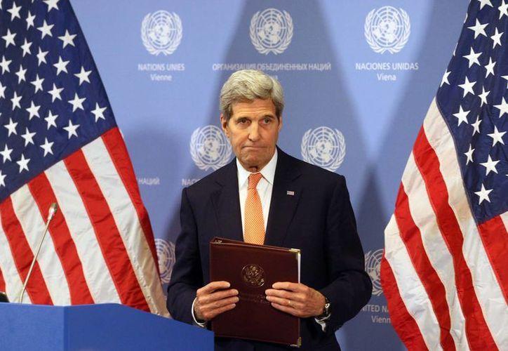 John Kerry, secretario de Estado de Estados Unidos, anunció levantamiento de las sanciones contra Irán. (EFE)