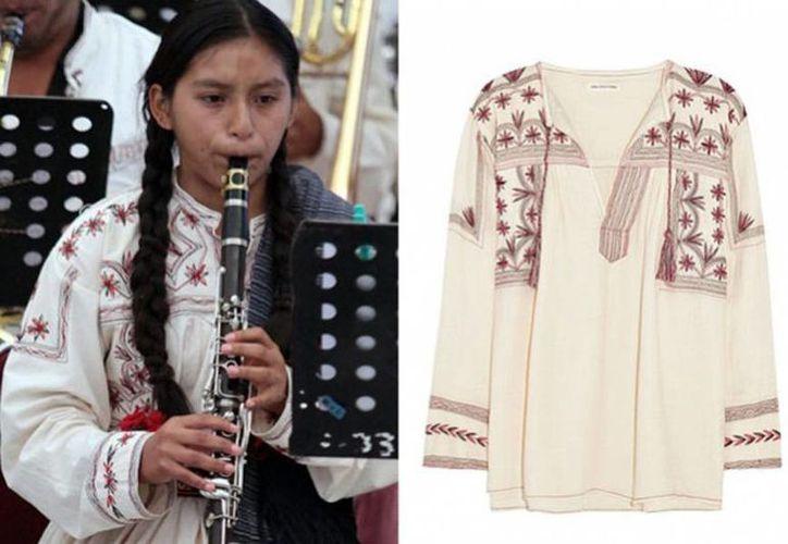 Los bordados utilizados en la vestimenta de las mujeres de la comunidad mixe es muy similar al que usa la diseñadora Isabel Marant en sus prendas. (tvnotas.com.mx)