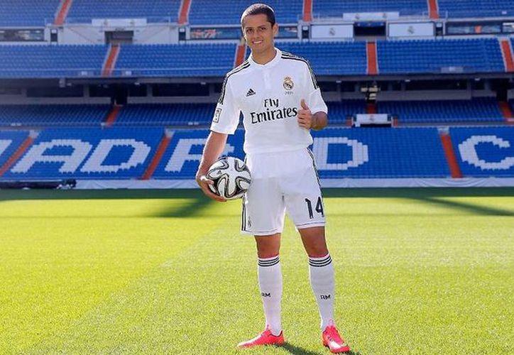 El mexicano Javier Hernández 'Chicharito' es un suplente de lujo de Real Madrid, con el que acumula ya cinco dianas. '(diariobernabeu.com/Foto de archivo)
