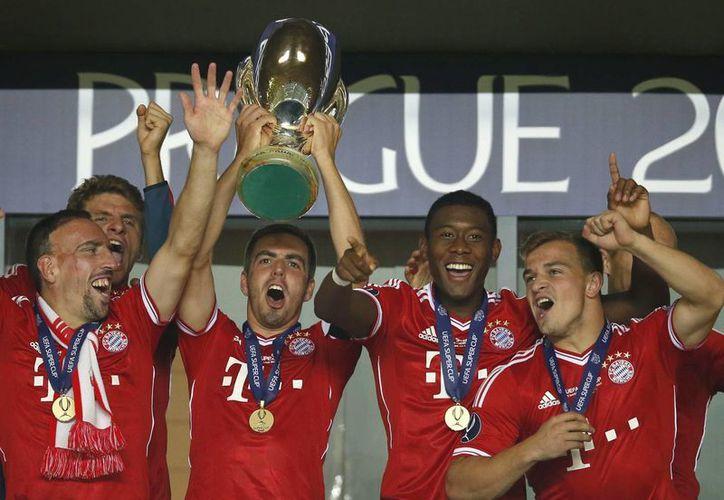 Jugadores del Bayern Munich celebrando su victoria. (Agencias)