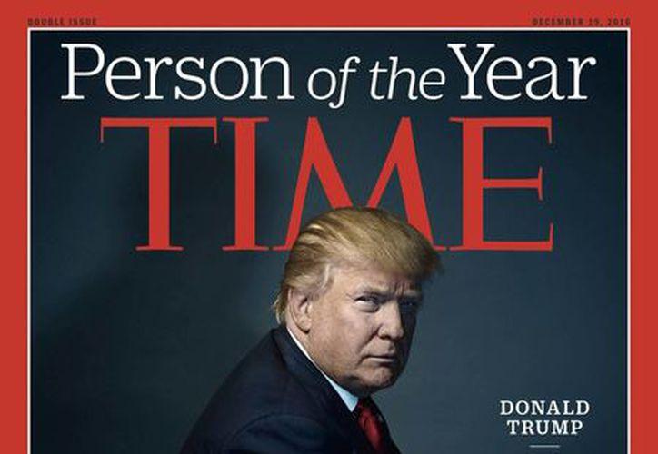 La prestigiosa revista Time nombró al presidente electo de Estados Unidos, Donald Trump, como persona del año 2016. (AP)