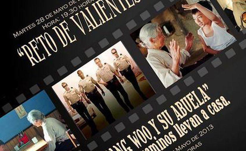 Cartel promocional de las películas que se ofrecerán en Fundación Villa de la Esperanza. (Cortesía)