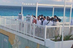 Extreman medidas de seguridad en <i>playa Delfines</i>