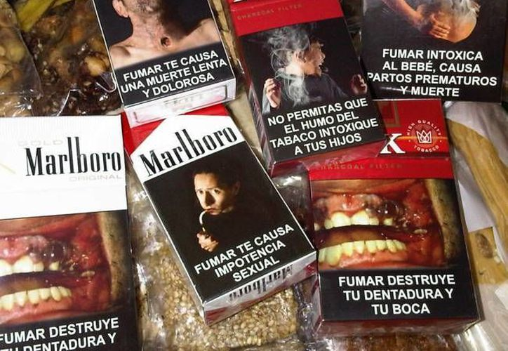 Los pictogramas en el reverso de la cajetilla de tabaco son obligatorias desde 2010. (noticiasmvs.com)