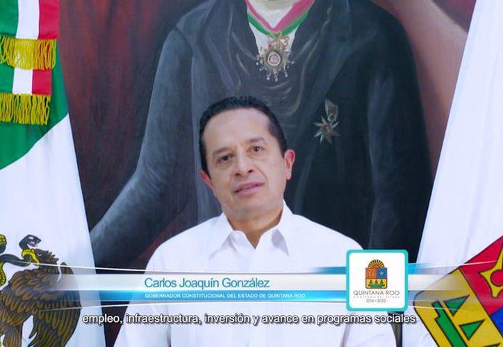 El gobernador de Quintana Roo, Carlos Joaquín González dio a conocer una estrategia basada en 10 puntos con el objetivo de frenar la delincuencia en Quintana Roo. (Facebook)