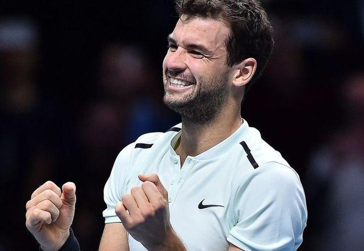 Grigor Dimitrov se coronó campeón del Masters de Londres. (AFP).