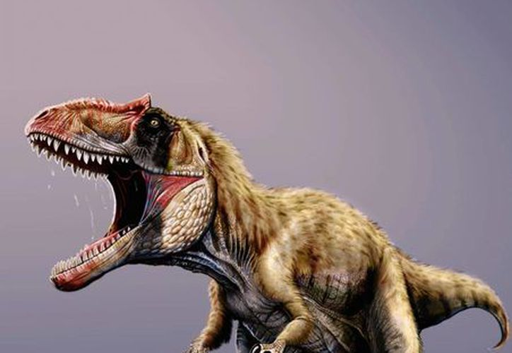 Representación del dinosaurio carnívoro descubierto en Utah y que fue <i>bautizado</i> como Siats meekerorum. (Agencias)