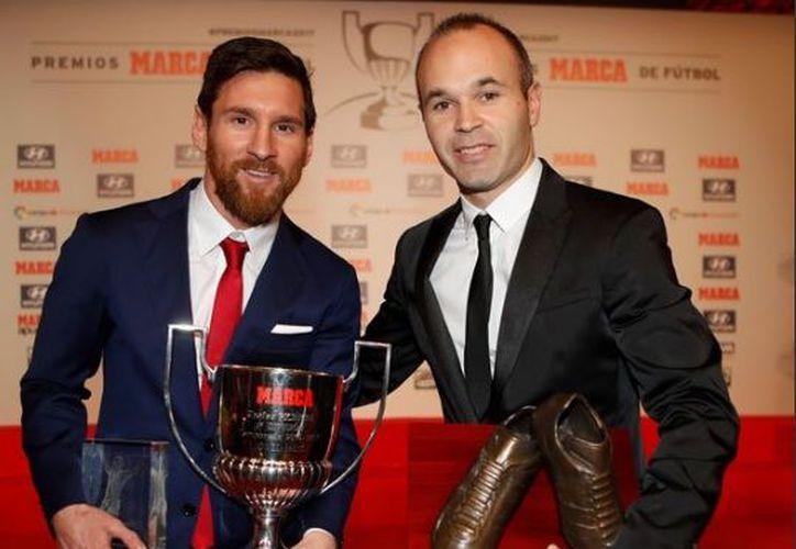 Este el cuarto Pichichi que gana Lio Messi con el Barcelona y el quinto trofeo Di Stéfano. (Twitter)