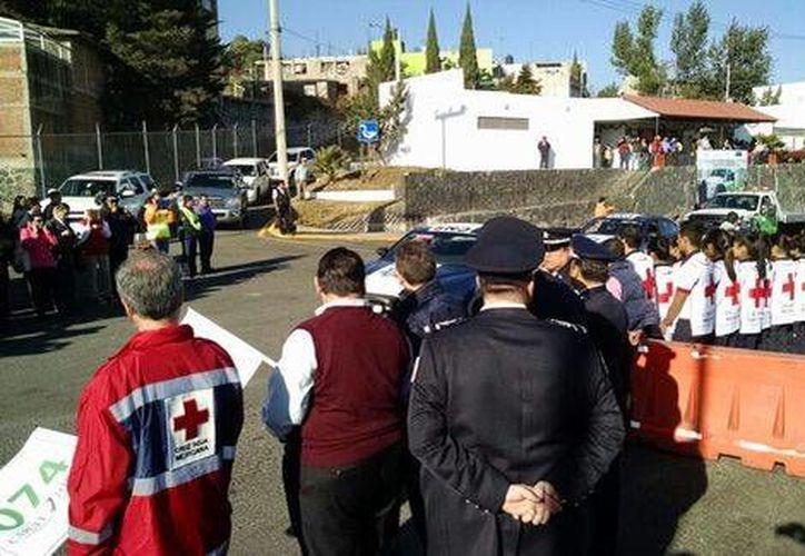 Banderazo al operativo decembrino en carreteras de México. (Jorge Becerril/Milenio)