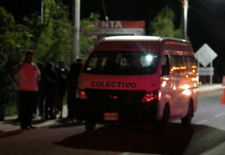 Los hombres amenazaron a los pasajeros con disparar si no entregaban sus pertenencias. (Foto: Redacción/SIPSE)