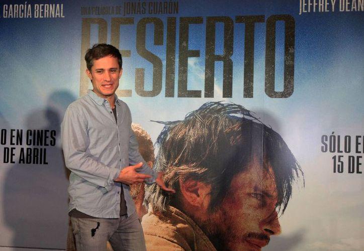 Gael García protagoniza la nueva cinta de acción 'Desierto', un retrato sobre los migrantes. (Notimex)