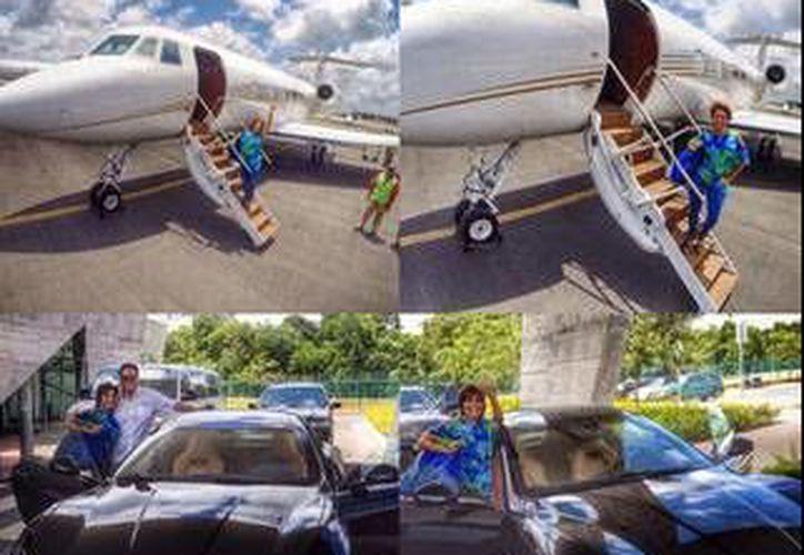 La Guzmán compartió fotografías de su llegada a Cancún. (Twitter/@Al3jandraGuzman)