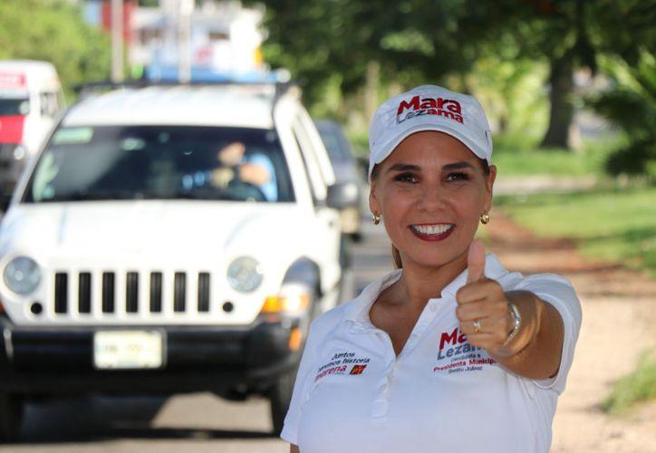 """""""Nos ganamos el respaldo y la confianza de la gente con trabajo, con propuestas, con cercanía"""", afirmó la candidata Mara Lezama. (Redacción/SIPSE)"""