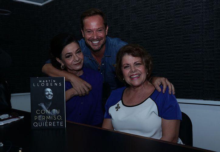 Marilis Escalante, Martín Llorens y Alis García transmitieron desde la estación Amor 100.1 de FM. (Jorge Acosta/Milenio Novedades)