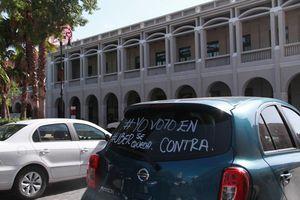 Uber protesta en Mérida una vez más