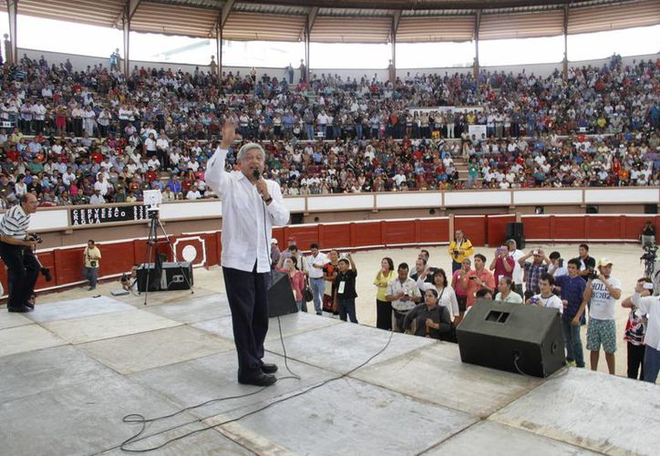 Andrés Manuel López Obrador, líder nacional de Morena. (Tomás Álvarez/SIPSE)