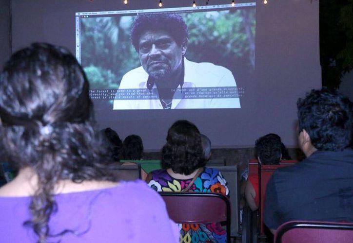 La cinta proyectada fue 'Soluciones locales, para un desorden global', presentada por The Nature Conservancy, y dirigida por el francés Cedric Houin.(José Acosta/Milenio Novedades)