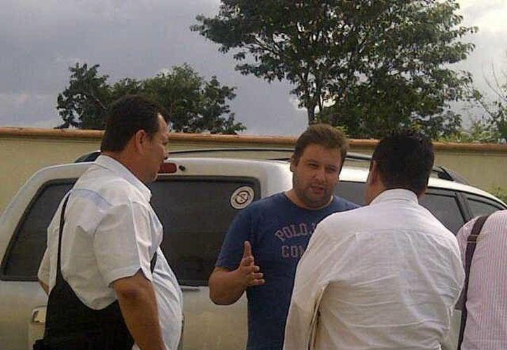 Fotografía cedida por la Presidencia de Guatemala del momento de la captura de Barreda de León en Mérida, Yucatán. (EFE)