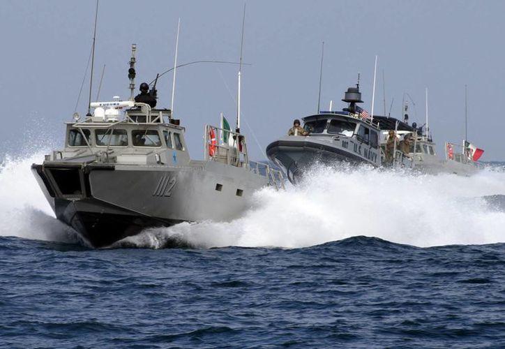 Aspecto del ejercicio naval realizado entre las Armadas de México y EU, en San Diego California. (Foto y video: semar.gob.mx)