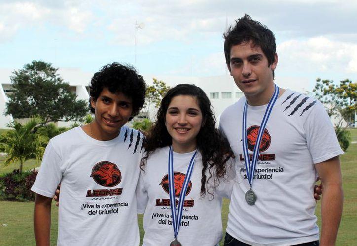 Los yucatecos medallistas son: Miguel Lara, Daniel Pérez y Alejandrina Méndez. (SIPSE)