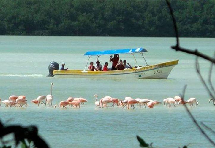Las lanchas que son utilizadas gran parte del tiempo durante las visitas turísticas a Yucatán generan también impacto ambiental (Archivo/SIPSE).
