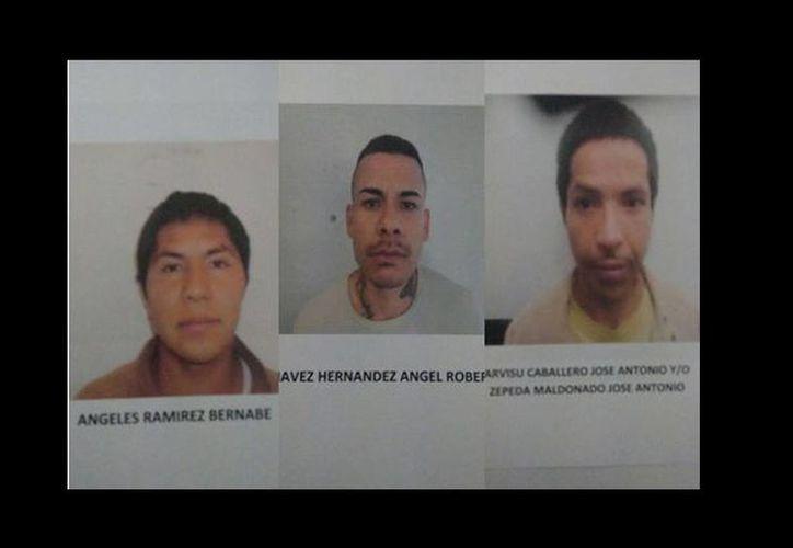 Tres de los presuntos delincuentes son acusados de robo con violencia. (Milenio)