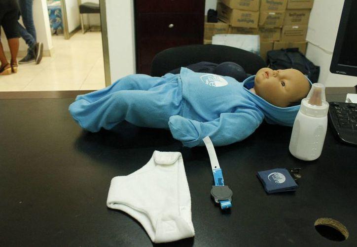 El muñeco funciona  con sensores que están en los artículos. (Paloma Wong/SIPSE)