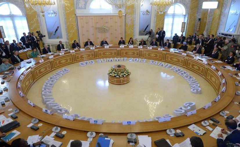 Vista general durante el segundo día de la cumbre del G20 que acoge la ciudad de San Petersburgo, Rusia. (EFE)