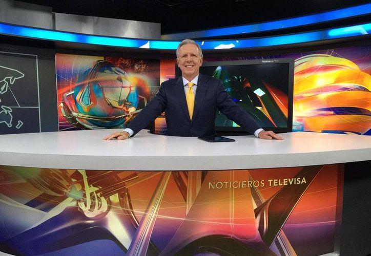 Joaquín López-Dóriga será entrevistado por Adela Micha este viernes, tras la última emisión de El Noticiero. (Twitter.com/@lopezdoriga)